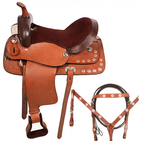 Texas Star Western Trail Pleasure Leather Saddle 15