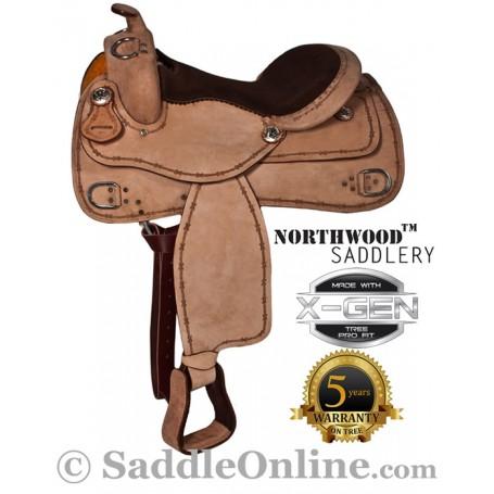 Premium Western Training Horse Leather Saddle 16 17