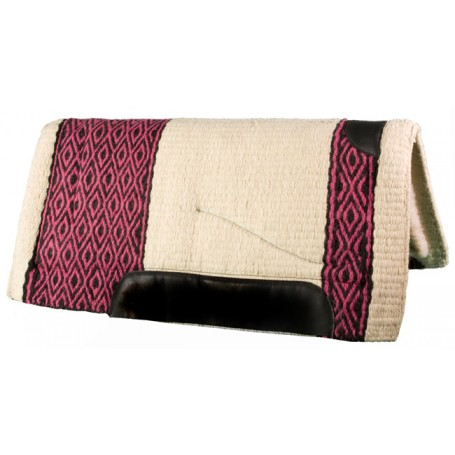 Pink Fuchsia Black Premium NZ Wool Fleece Western Saddle Pad
