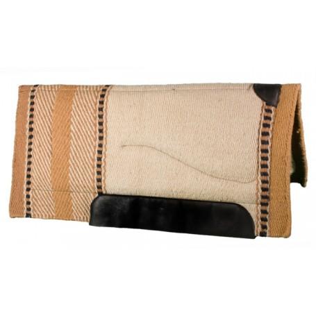 Cream, Beige, and Black Premium Wool Fleece Western Saddle Pad