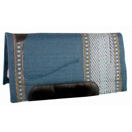 Blue White Tan Premium Quality Wool Fleece Western Saddle Pad