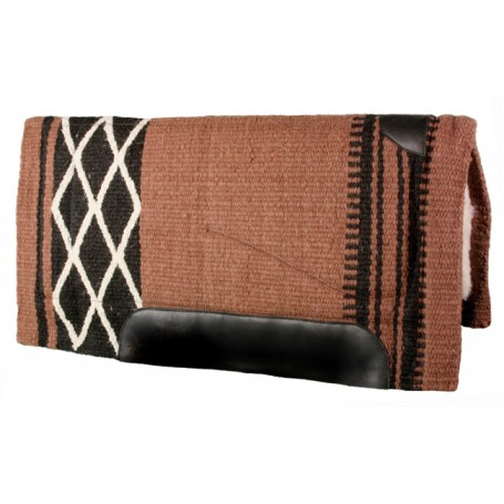 Brown Black White Premium Wool Fleece Western Saddle Pad