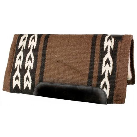 Brown Black w/White  Arrow Pattern Wool Western Horse Saddle Pad