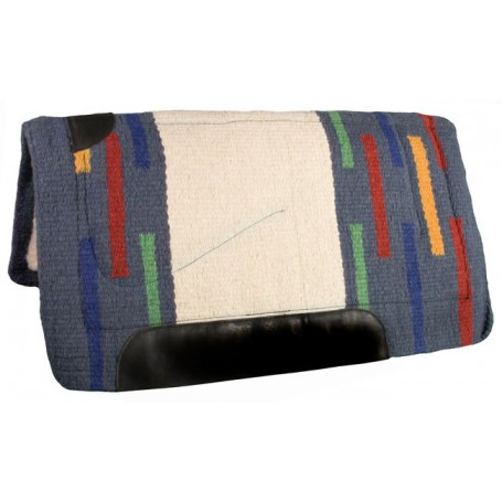 Gray Green Blue Red Heavy Duty NZ Wool Western Horse Saddle Pad