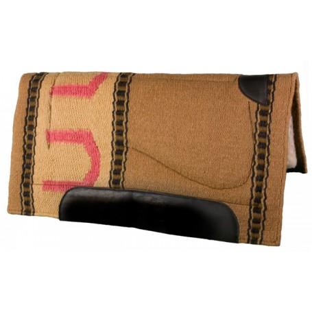 Tan & Beige Heavy Duty Wool Western Horse Saddle Pad