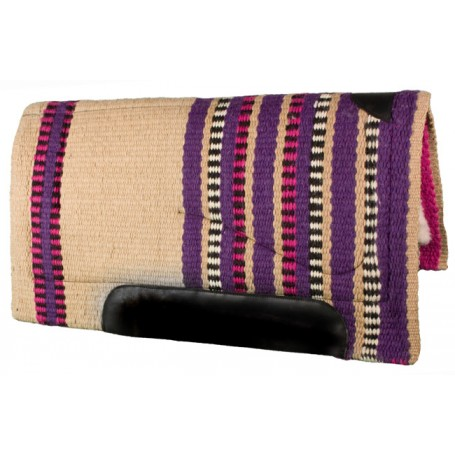 Cream Red Purple Heavy Duty Wool Western Horse Saddle Pad