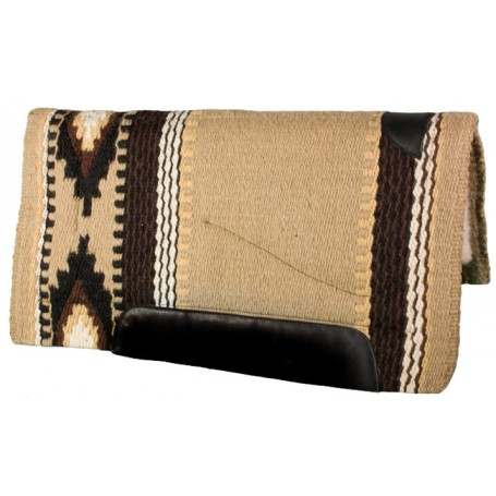 Tan Chocolate Black Heavy Duty Wool Western Horse Saddle Pad