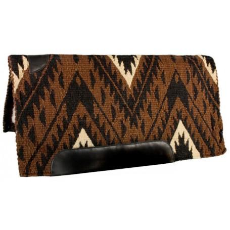 Chocolate Black Tan Heavy Duty Wool Western Horse Saddle Pad