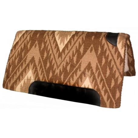 Warm Brown & Tan NZ Wool Felt Heavy Western Horse Saddle Pad