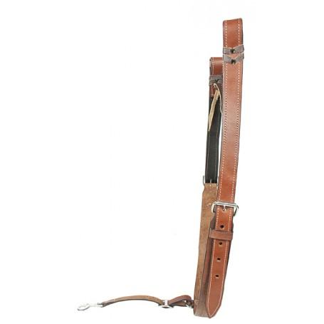 Chestnut Tan Natural Leather Saddle Back Cinch