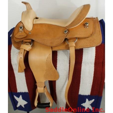 New 17 Natural Western Horse Pleasure Saddle