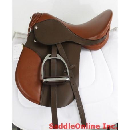New 16 17 18 Leather All Purpose Horse English Sad