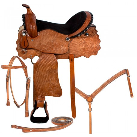 15 17 Western Pleasure Trail Horse Leather Saddle