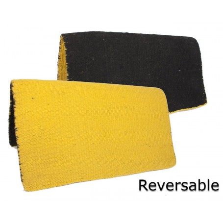 New Black And Yellow Reversible Show Saddle Blanket