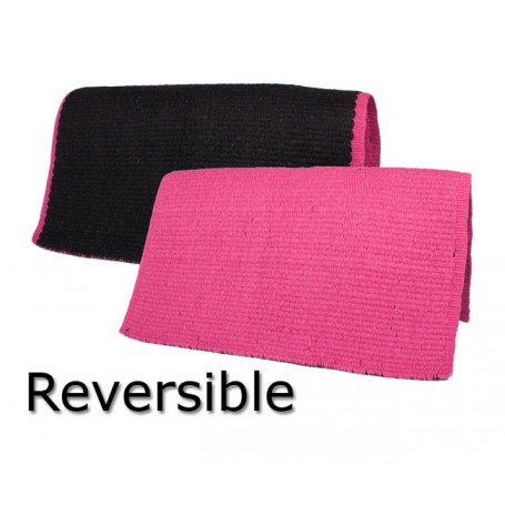Reversible New Zealand Wool Black and Pink Show Saddle Blanket