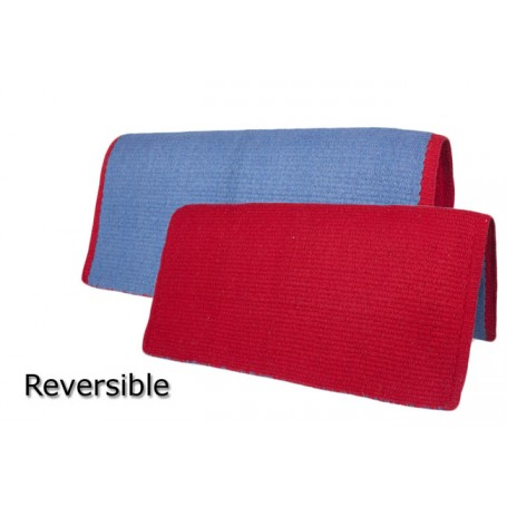 Reversible New Zealand Wool Red &Blue Show Saddle Blanket