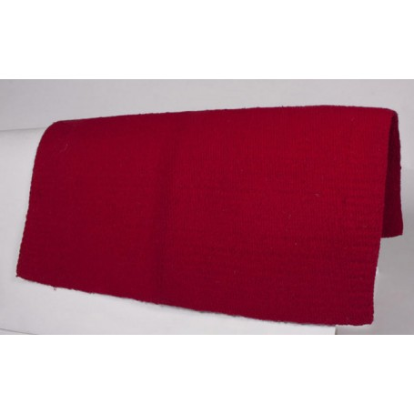 Red New Zealand Wool Show Saddle Blanket