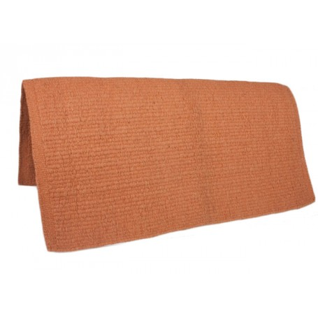 Orange New Zealand Wool Show Saddle Blanket