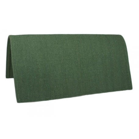 Green New Zealand Wool Show Saddle Blanket