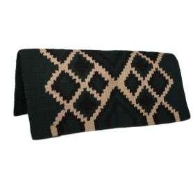 Dark Green Tan Design Show Saddle Blanket