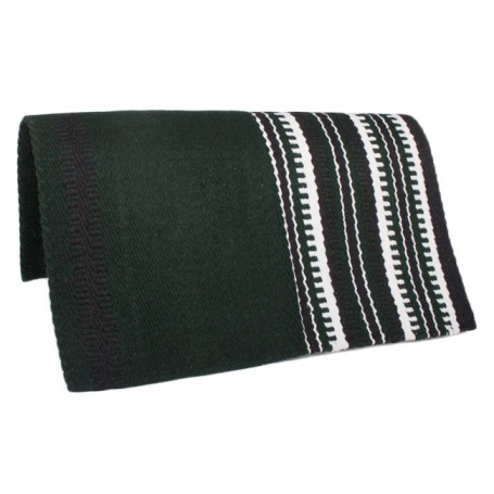 Green Black &White Show Saddle Blanket