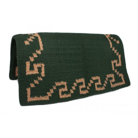Green w Peach Design Show Saddle Blanket