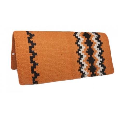 Premium Orange Wool Show Saddle