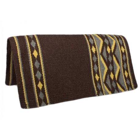 Brown W Yellow Show Saddle Blanket