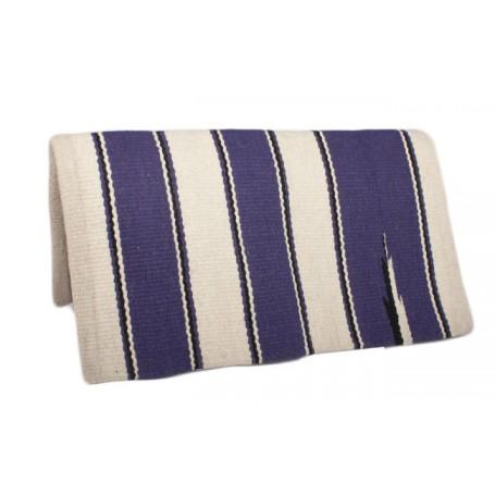 Beige W Purple Premium Wool Show Blanket
