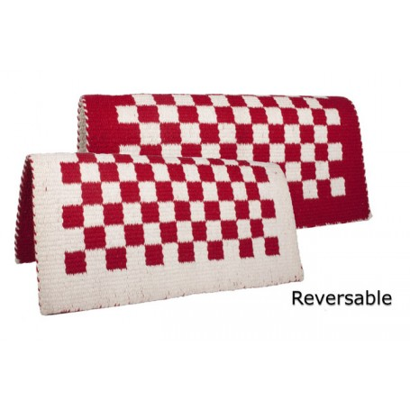 Red/Beige Reversible Saddle Show Blanket