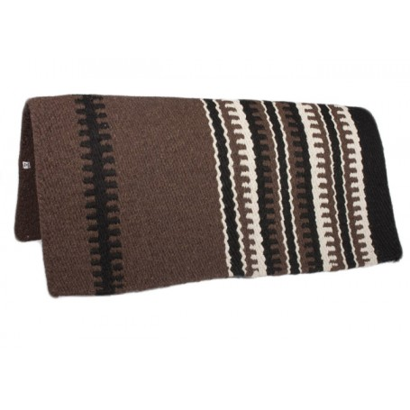 Chocolate W Design Show Saddle Blanket