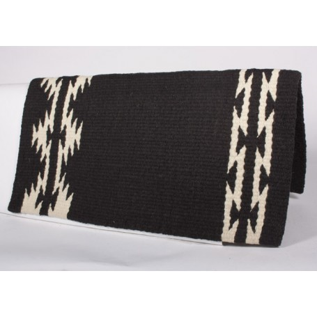 Black W Design Show Saddle Blanket