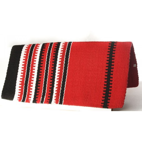 Bright Red New Zealand Wool Show Blanket