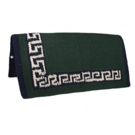 Green New Zealand Wool W Border Show Saddle Blanket