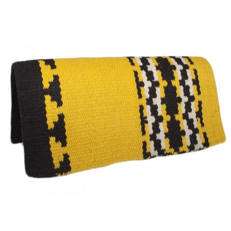 Yellow W Design Show Saddle Blanket