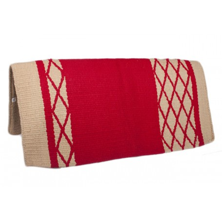 Red/Beige New Zealand Wool Show Saddle Blanket