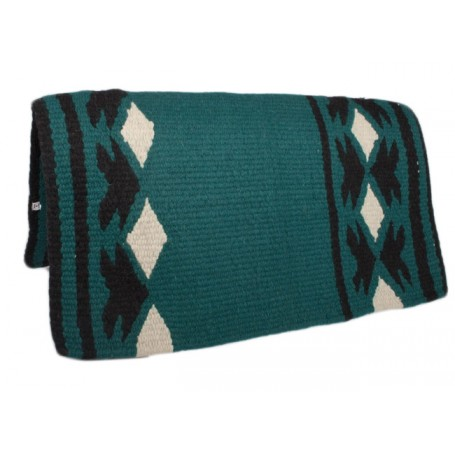 Pine Green Show Saddle Blanket