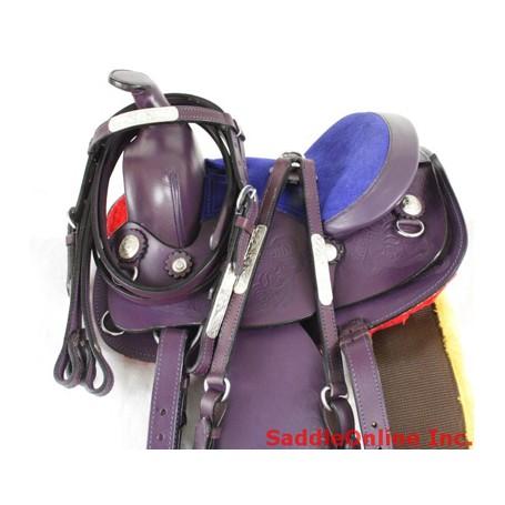 New 8 Purple  Miniature Horse Saddle