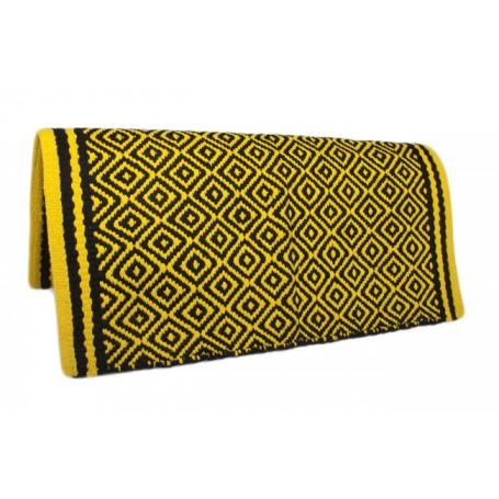 Black/Yellow Premium Wool Show Saddle Blanket