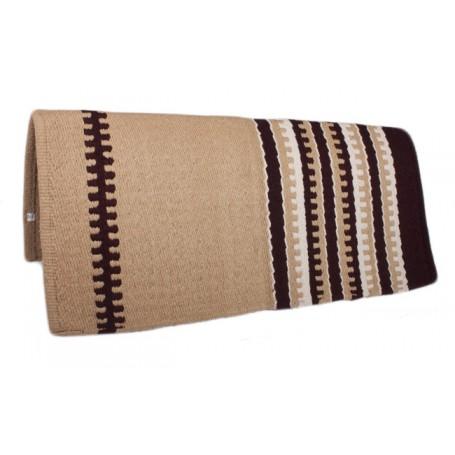 New Zealand Wool Tan Show Saddle Blanket