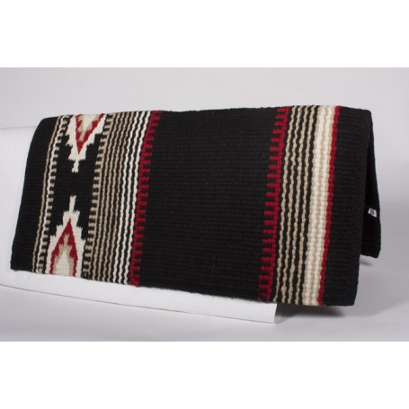 Black/Red Design New Zealand Wool Show Saddle Blanket
