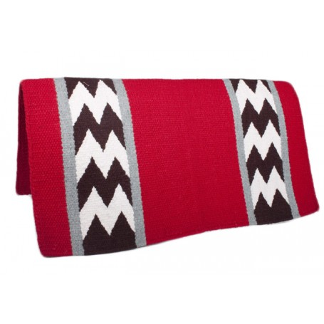 Premium Wool Red W Design Show Saddle Blanket