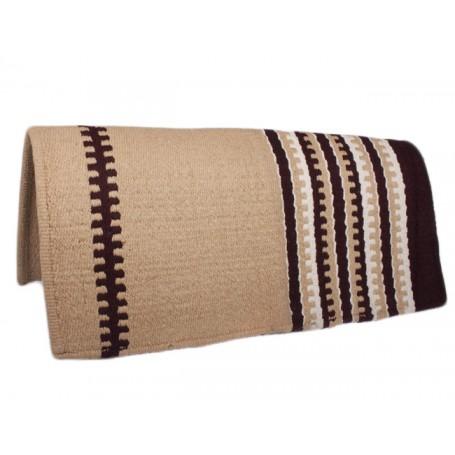 Sand/Brown Show Saddle Blanket Premium Wool