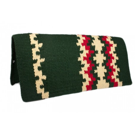 New Zealand Wool Show Saddle Blanket Green