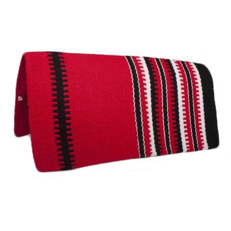 Premium Wool Saddle Red W Design Show blanket