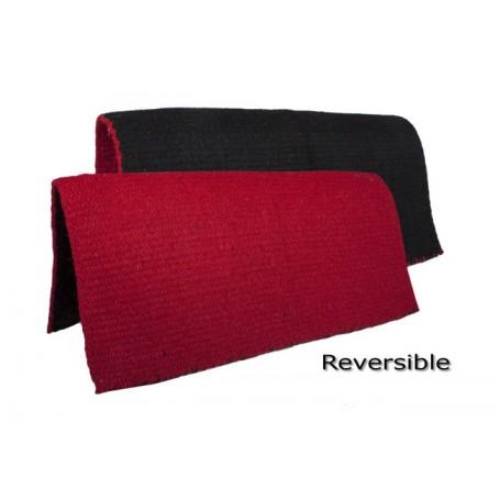 Red & Black New Zealand Wool Show Saddle Blanket