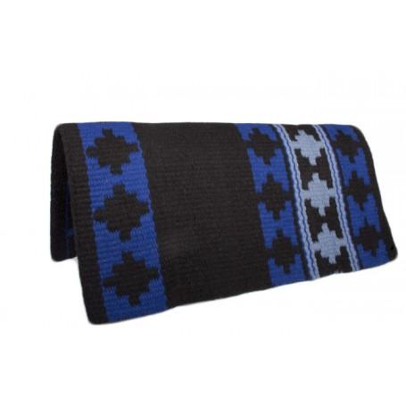 Black/Blue Premium Wool Show Saddle Blanket