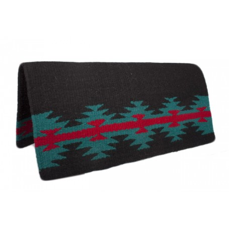 Premium Wool Black W Red Show Saddle Blanket