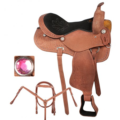 16 17 Pink Western Pleasure Trail Horse Saddle