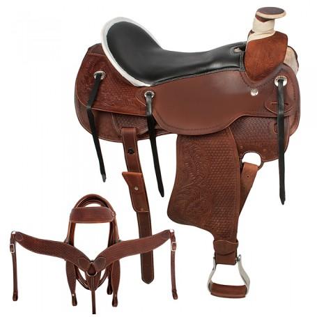 Wood Wade Tree Ranch Work Pleasure Trail Horse Saddle 18